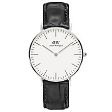 Daniel Wellington Reading Ladies' Black Leather Strap Watch - Product number 4899601