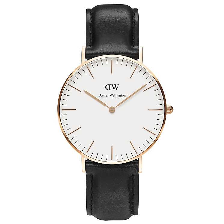 Daniel Wellington Sheffield Ladies' Black Leather Watch - Product number 4899687