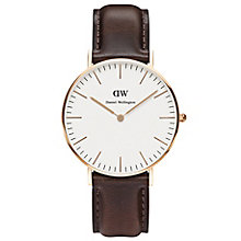 Daniel Wellington Bristol Ladies' Brown Leather Strap Watch - Product number 4899830