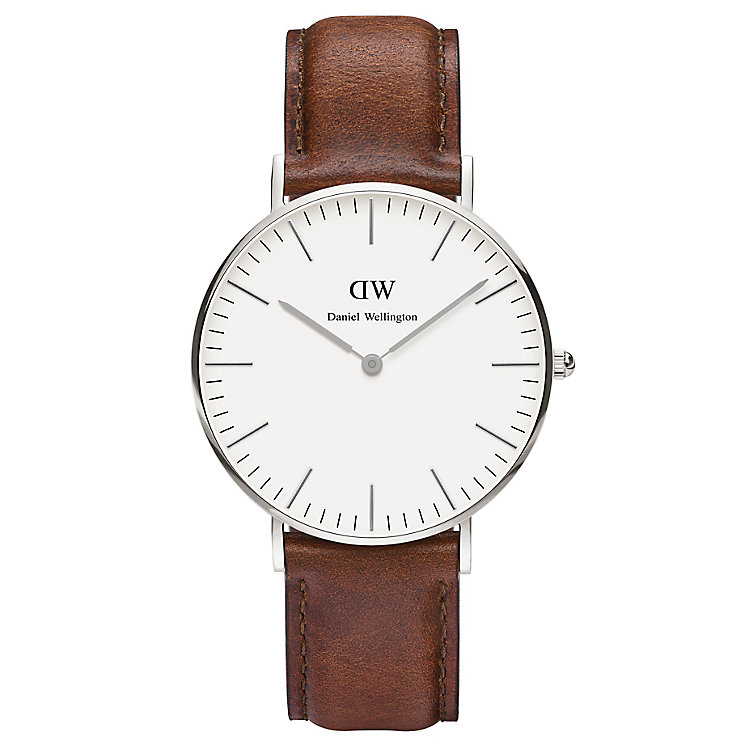 Daniel Wellington St Mawes Ladies' Brown Leather Strap Watch - Product number 4899938