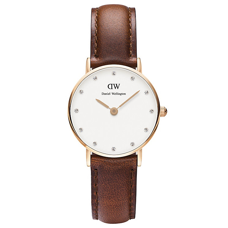 Daniel Wellington St Mawes Ladies' Brown Leather Strap Watch - Product number 4899954