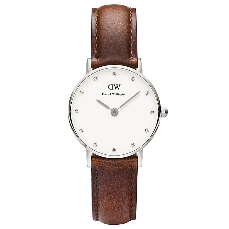 Daniel Wellington St Mawes Ladies' Brown Leather Strap Watch - Product number 4900006