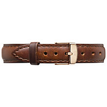 Daniel Wellington St Mawes Ladies' Brown Leather Strap - Product number 4902068