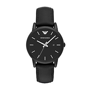 Emporio Armani Men's Ion Plated Black Strap Watch - Product number 4904184