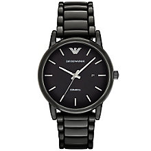 Emporio Armani Men's Ion Plated Black Bracelet Watch - Product number 4904214