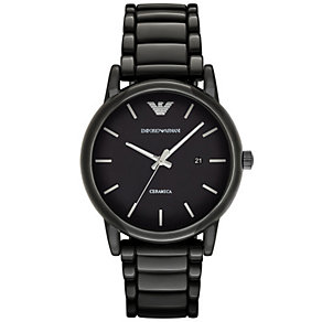Emporio Armani Luigi Men's Ion Plated Black Bracelet Watch - Product number 4904214
