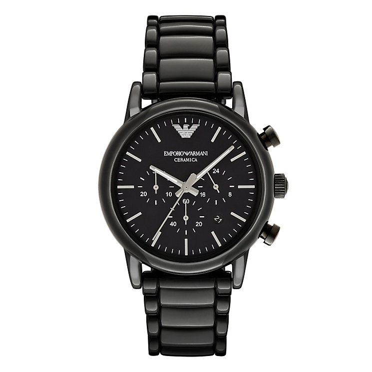 Emporio Armani Men's Ion Plated Black Bracelet Watch - Product number 4904222