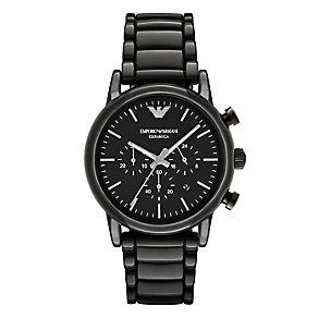 Emporio Armani Luigi Men's Ion Plated Black Bracelet Watch - Product number 4904222