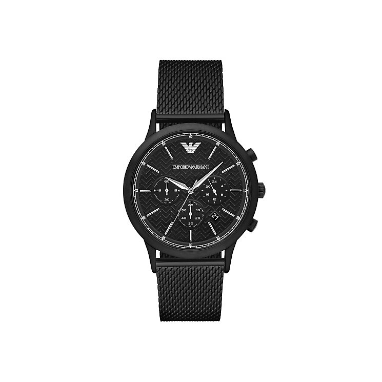Emporio Armani Men's Ion Plated Black Bracelet Watch - Product number 4904230