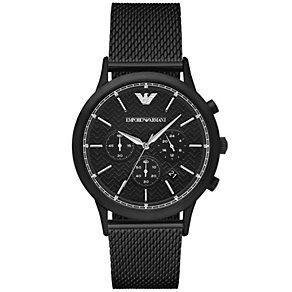 Emporio Armani Renato Men's Ion Plated Black Bracelet Watch - Product number 4904230