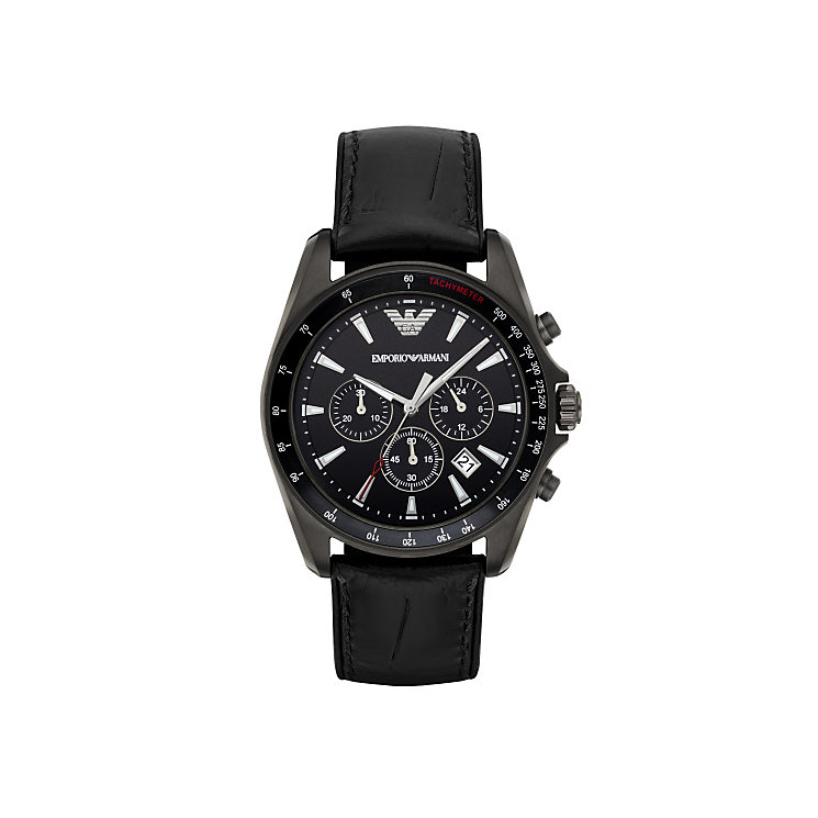 Emporio Armani Men's Stainless Steel Black Strap Watch - Product number 4904249