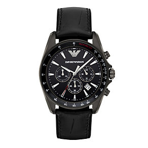 Emporio Armani Sigma Men's Stainless Steel Black Strap Watch - Product number 4904249