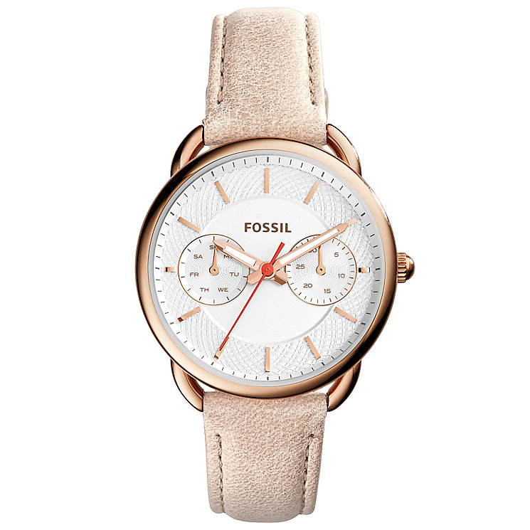 Fossil Tailor Ladies' Rose Gold Tone Strap Watch - Product number 4904311