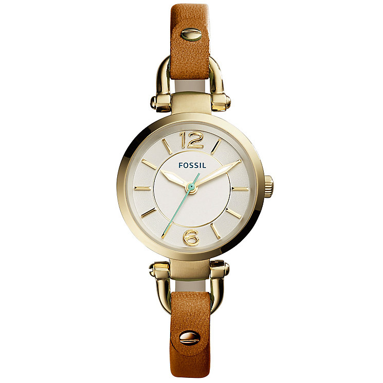 Fossil Georgia Ladies' Gold Tone Strap Watch - Product number 4904354