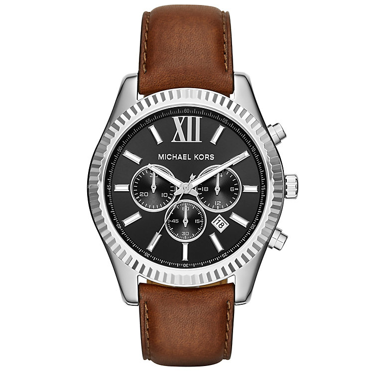 men s michael kors watches ernest jones michael kors men s stainless steel bracelet watch product number 4904753