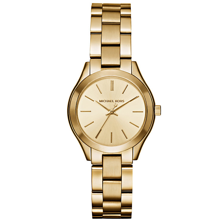 Michael Kors Ladies' Gold Tone Bracelet Watch - Product number 4904796