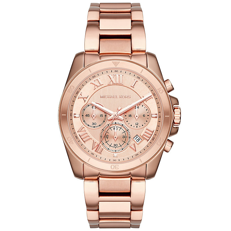 Michael Kors Ladies' Rose Gold Tone Bracelet Watch - Product number 4904842