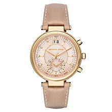 Michael Kors Ladies' Gold Tone Strap Watch - Product number 4904893