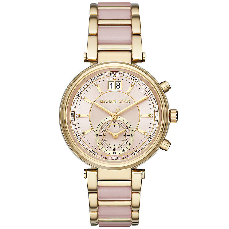 Michael Kors Sawyer Ladies' Gold Tone Bracelet Watch - Product number 4904907