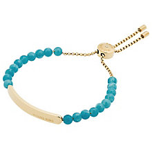 Michael Kors Gold Tone Blue Heritage Bracelet - Product number 4907051
