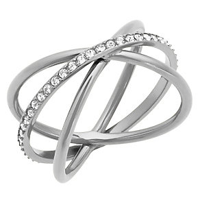 Michael Kors Stainless Steel Stone Set Ring - Product number 4907663