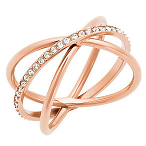 Michael Kors Rose Gold Tone Stone Set Ring - Product number 4907671