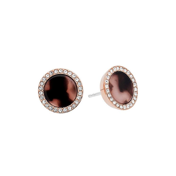 Michael Kors Rose Gold Tone tortoise acetate Earrings - Product number 4907736