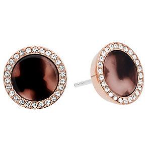 Michael Kors Rose Gold Tone Tortoiseshell Earrings - Product number 4907736