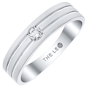 Leo Diamond Men's 18ct White Gold Diamond Band - Product number 4907760