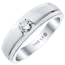 Leo Diamond Men's 18ct White Gold 0.33ct Diamond Band - Product number 4908082