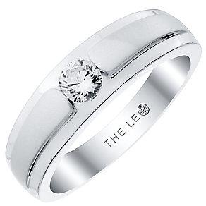 Leo Diamond Men's 18ct White Gold 0.33ct Diamond Band - Product number 4908082