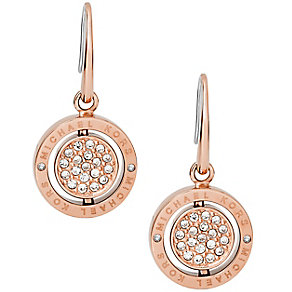 Michael Kors Double Spin Rose Gold Tone Earrings - Product number 4908643