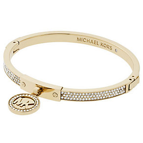 Michael Kors Gold Tone Stone Set Fulton Bangle - Product number 4908716