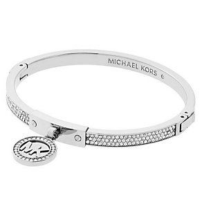Michael Kors Stainless Steel Stone Set Fulton Bangle - Product number 4908724