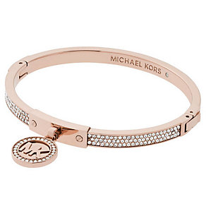 Michael Kors Rose Gold Tone Stone Set Bangle - Product number 4908732