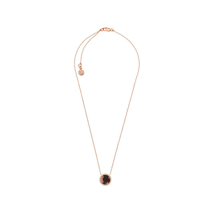 Michael Kors Rose Gold Tone Tortoise Acetate Necklace - Product number 4908740