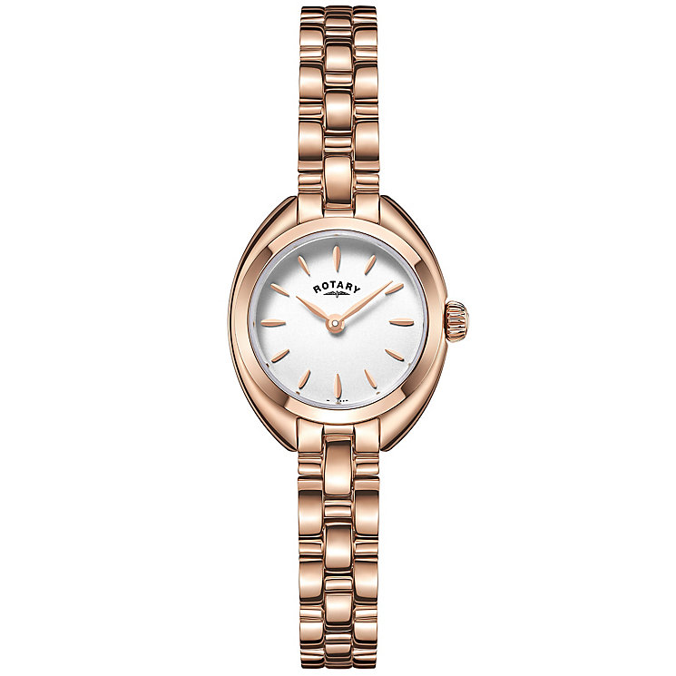 Rotary Ladies' Rose Gold Plated Bracelet Watch - Product number 4909631