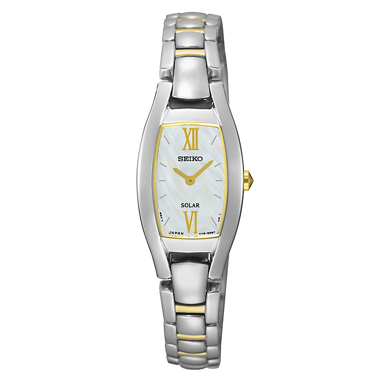 Seiko Solar Ladies' Two Colour Bracelet Watch - Product number 4912349