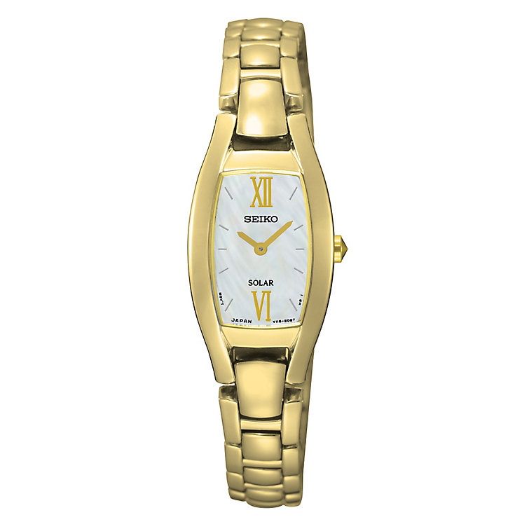 Seiko Solar Ladies' Gold Plated Bracelet Watch - Product number 4912357