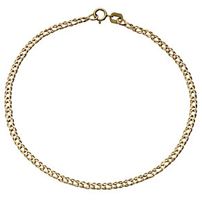 """9ct Yellow Gold 10"""" Curb Anklet - Product number 4914139"""