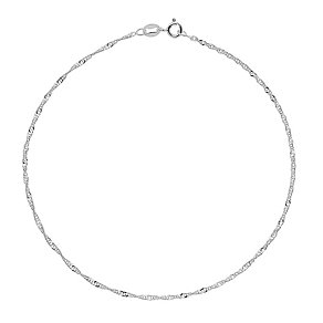 "Sterling Silver 10"" Double Twist Chain Anklet - Product number 4914163"