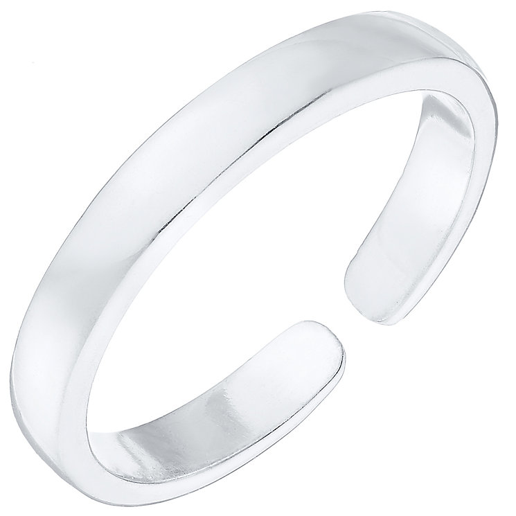 Sterling Silver Plain Toe Ring - Product number 4914260