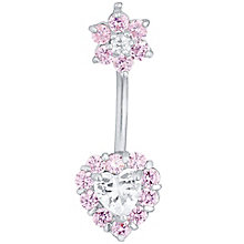 White & Pink Flower & Heart Belly Bar - Product number 4914325