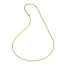 9ct Yellow Gold Singapore Necklace - Product number 4914600