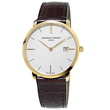 Frederique Constant Men's Gold Plated Strap Watch - Product number 4914872