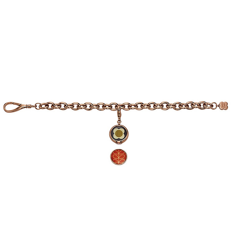 Orla Kiely Rose Gold-Plated Reversible Charm Bracelet - Product number 4917154