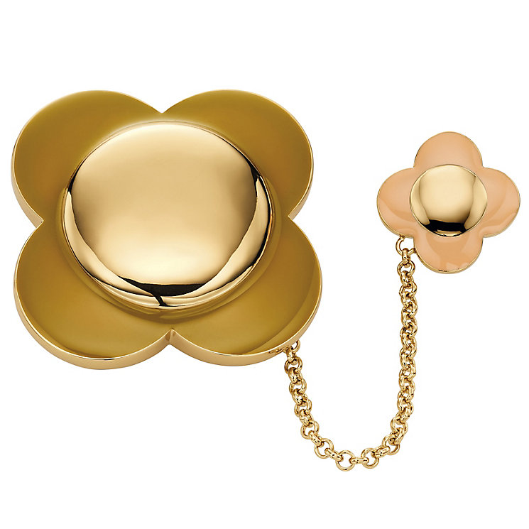 Orla Kiely Flower Brooch Rose & Gold-Plated Brooch - Product number 4917197
