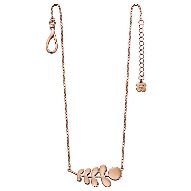 Orla Kiely Rose Gold-Plated Leaf Necklace 42cm - Product number 4917332