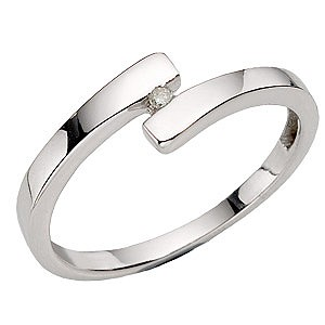 Hot Diamonds Silver Crossover Ring - Small