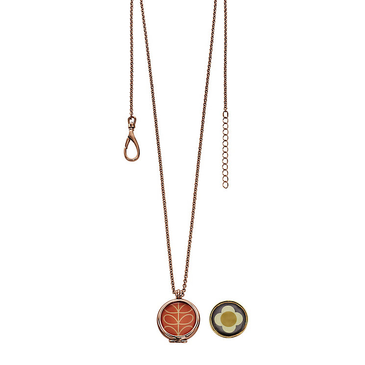Orla Kiely Rose Gold-Plated Reversible Flower Pendant - Product number 4918029